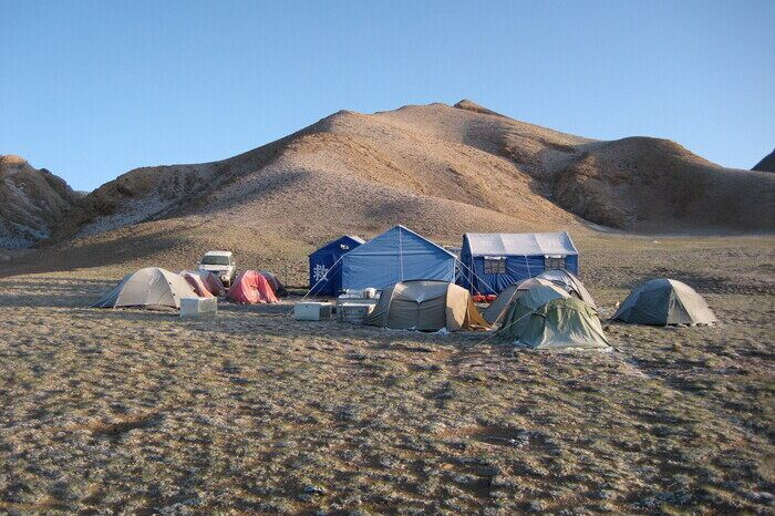 Campsite at Donggi Cona in 2009
