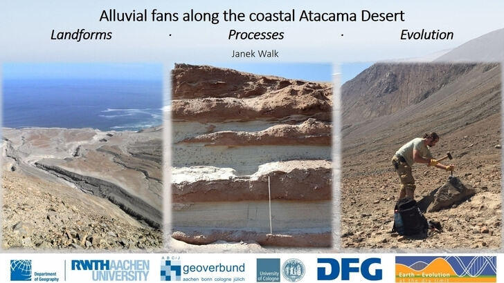 Alluvial fans along the coast of the Atacama Desert